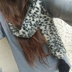 Cheetah Scarf with Tassles